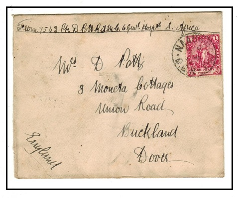 CAPE OF GOOD HOPE - 1900 military Boer War cover to UK used at NAAUWPOORT.
