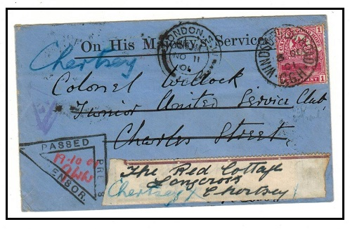 CAPE OF GOOD HOPE - 1901 1d rate Boer War censored cover to UK used at WINDSORTON.