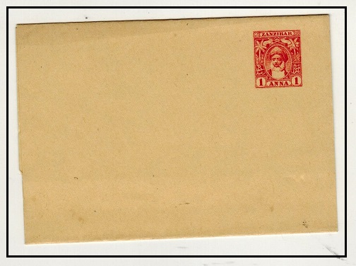 ZANZIBAR - 1899 1a carmine postal stationery wrapper unused.  H&G 15.