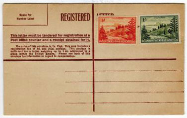 NORFOLK ISLAND - 1947 uprated 1/- + 1/2d