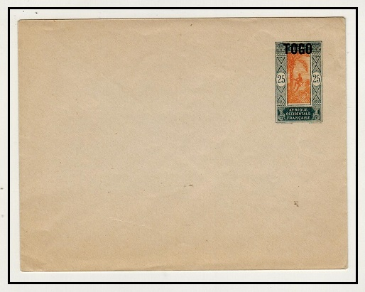 TOGO - 1921 25c violet and grey PSE of Dahomey overprinted TOGO mint.  H&G 5.