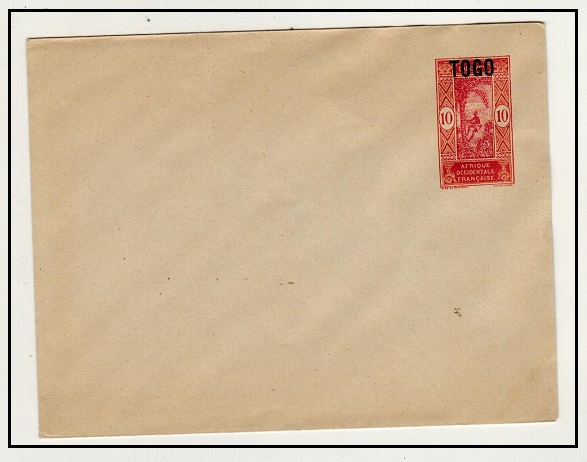 TOGO - 1921 10c orange and brown PSE of Dahomey overprinted TOGO mint.  H&G 4.