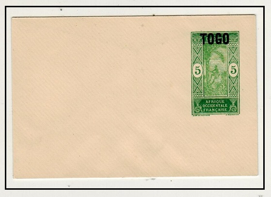 OGO - 1921 5c yellow green PSE of Dahomey overprinted TOGO mint.  H&G 3.