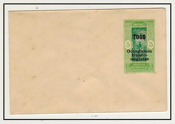 TOGO - 1917 5c yellow green PSE of Dahomey overprinted TOGO mint.  H&G 1.