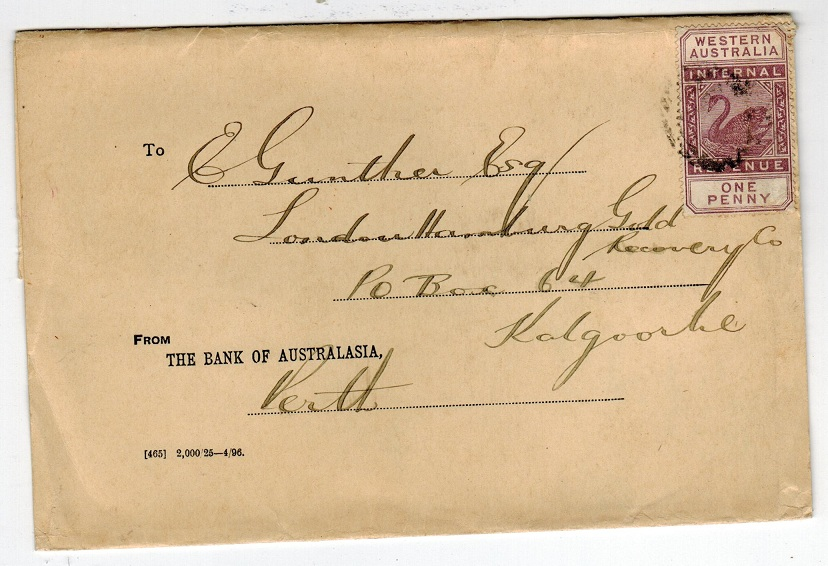AUSTRALIA (Western Australia) - 1896 wrapper with 1d lilac