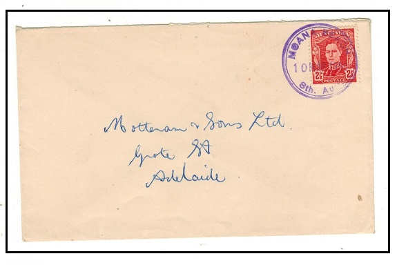 AUSTRALIA - 1950 2 1/2d rate local cover used at military MOANA BEACH/8th AUS.