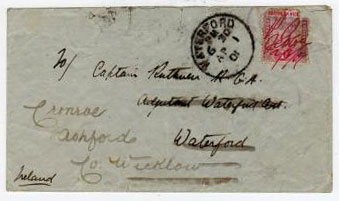 NORTHERN NIGERIA - 1901 P.O.JEBBA manuscript cover to Ireland.