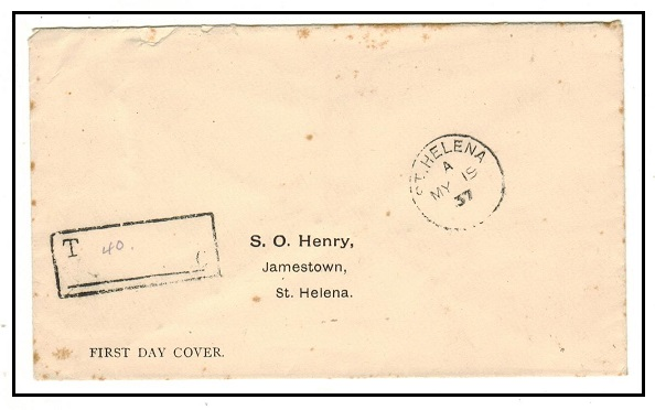 ST.HELENA - 1937 local unstamped cover with boxed