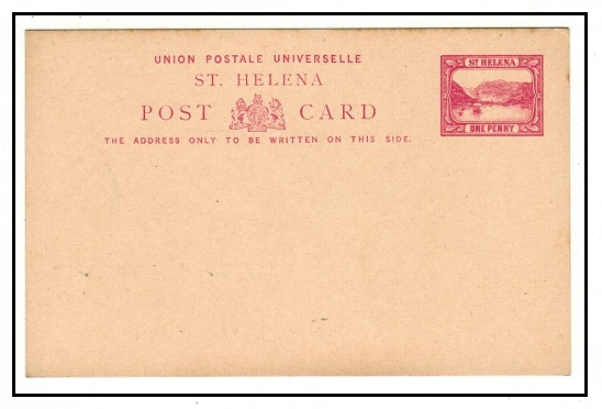 ST.HELENA - 1896 1d red PSC unused.  H&G 1.