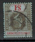MALAYA (Straits Settlements) - 1912 $1 black and red used with INVERTED WATERMARK.  SG 210w.