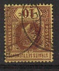 MALAYA (Straits Settlements) - 1912 10c purple on yellow fine used with INVERTED WATERMARK.  SG 202w