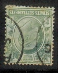 MALAYA - (Straits Settlements) - 1904 1c used with INVERTED WATERMARK.  SG 127w.