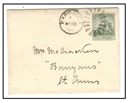 BARBADOS - 1896 1/2d local rate cover to St.Anns.