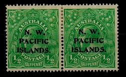 NEW GUINEA (N.W.P.I.) - 1915 1/2d bright green mint pair with rare