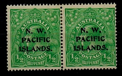 NEW GUINEA (N.W.P.I.) - 1915 1/2d bright green mint pair with