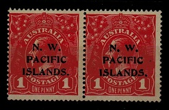 NEW GUINEA (N.W.P.I.) - 1915 1d carmine red mint pair with