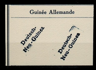NEW GUINEA - 1910 (circa) FOURNIER FORGERY strikes of the German overprints.