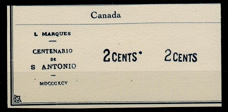 CANADA - 1910 (circa) FOURNIER forgery of the 2 cents overprint.