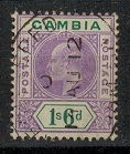 GAMBIA - 1909 1/6d violet and green. Used.  SG 82.