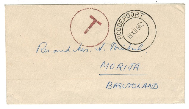 BASUTOLAND - 1962 incoming taxed cover.