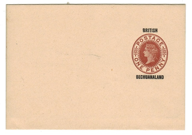 BECHUANALAND - 1886 1d red-brown postal stationery wrapper unused.  H&G 4.