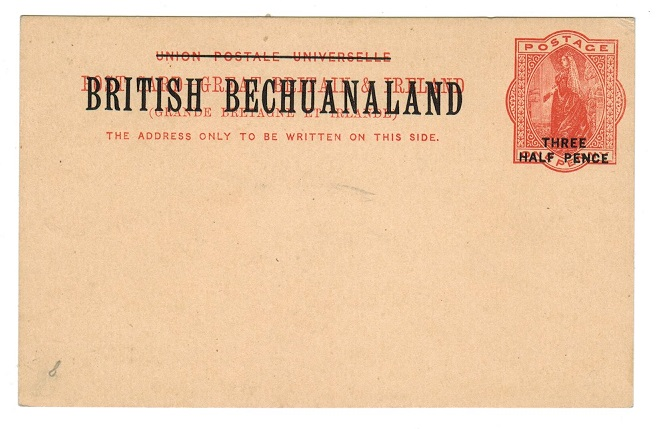 BECHUANALAND - 1893 1 1/2d on 1d red PSC unused.  H&G 8.