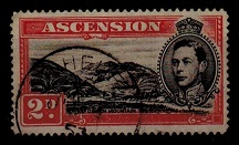 ST.HELENA - 1949 2d (Ascension) adhesive (SG 41c) used in St.Helena.