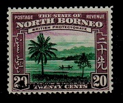 NORTH BORNEO - 1939 20c COLOUR TRIAL with WATERLOW & SONS h/s.