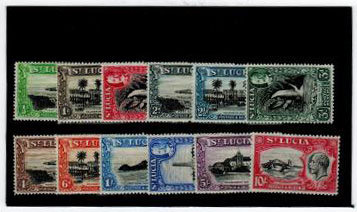 ST.LUCIA - 1936 Pictorial series in very fine mint condition.  SG 113-24.