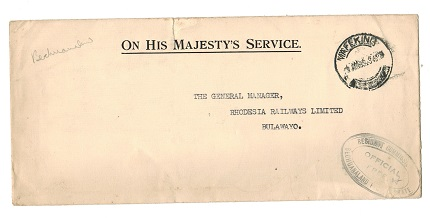 BECHUANALAND - 1935 OHMS cover from MAFEKING with OFFICIAL FREE cachet.
