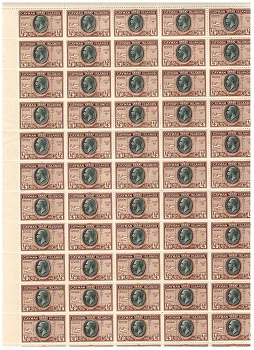 CAYMAN ISLANDS - 1935 1/4d black and brown