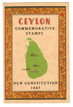 CEYLON - 1947 NEW CONSITUTION official folder.