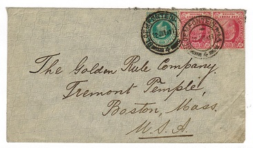 ORANGE RIVER COLONY - 1911 mixed Inter Provincial use cover from BLOEMFONTEIN.