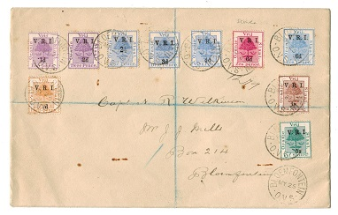 ORANGE FREE STATE - 1900 (MY.25.) registered local cover with