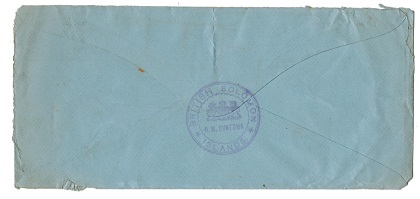 SOLOMON ISLANDS - 1917 TULAGI PAID violet h/s OHMS cover to Australia.