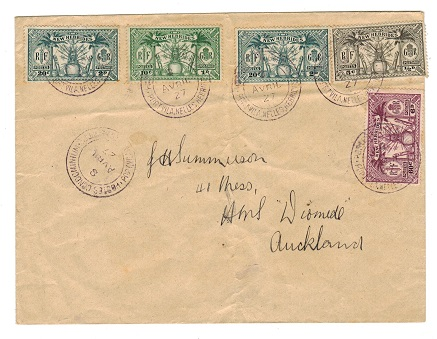 NEW HEBRIDES - 1927 multi franked cover to