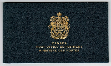 CANADA - 1951 Gold crested blue official presentation folder for the