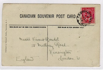 CANADA - 1907 use of picture postcard cancelled by C.P.R.Y. PT.ARTHUR railway strike.