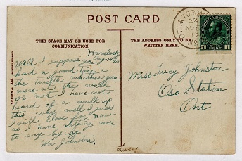 CANADA - 1913 use of picture postcard cancelled OTT & TORONTO MC No.3 railway strike.
