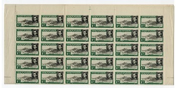 ASCENSION - 1949 1d (perf 13) in a mint sheet of 60 with MAJOR RE-ENTRY.  SG 39d.