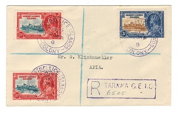 GILBERT AND ELLICE IS - 1936 cover to Samoa with