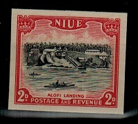 NIUE - 1950 2d IMPERFORATE PLATE PROOF.