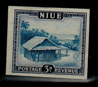 NIUE - 1950 3d IMPERFORATE PLATE PROOF.