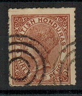BRITISH HONDURAS - 1872 3d red-brown SPIRO FORGERY with bogus target ringed cancel.