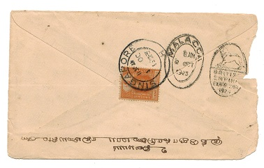 MALAYA (Malacca)-  BRITISH EMPIRE EXHIBITION cover