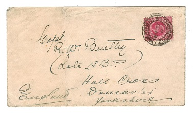 ZULULAND - 1911 cover to UK with Natal 1d used at NKANDLA.