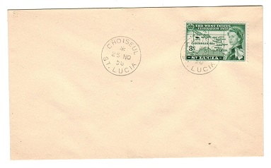 ST.LUCIA - 1958 unaddressed cover from CHOISEUL.