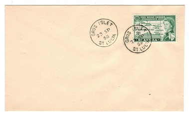 ST.LUCIA - 1958 unaddressed cover from GROS ISLET.
