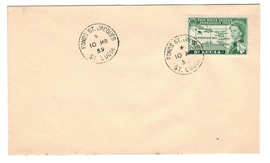 ST.LUCIA - 1959 unaddressed cover from FONDS ST JACQUES.