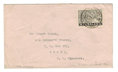NYASALAND - 1934 cover to Nkana from FORT MANNING.